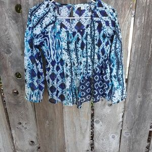 Patrons of Peace blue blouse in small